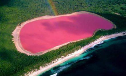 Laguna Roz din Mexic -> unul dintre cele mai frumoase locuri din lume